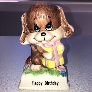Russ Berrie Birthday dog Figurine